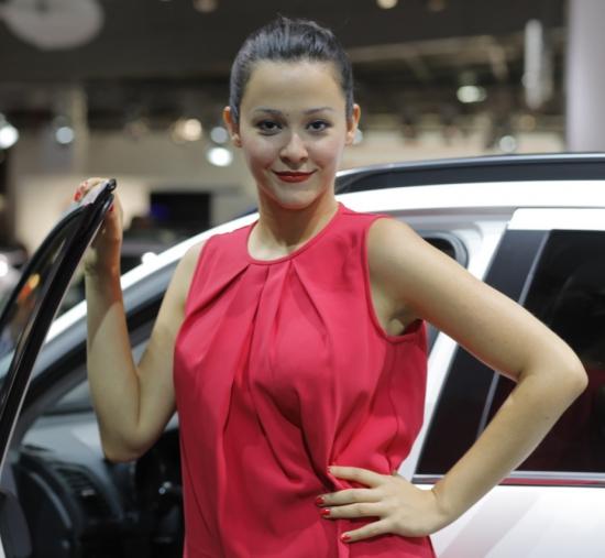 Девушки Парижского автосалона 2012